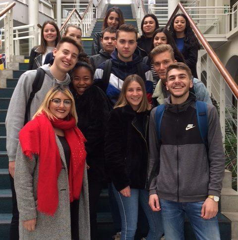 une partie des 19 élèves qui partent en mobilité à l'étranger cette année.