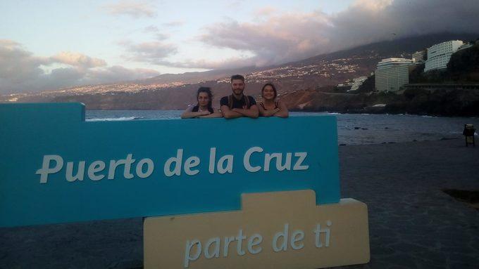 Les élèves à Tenerife